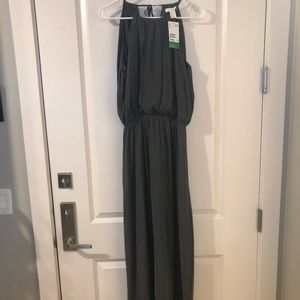 H&M Conscious gray Grecian maxi dress. Brand new.